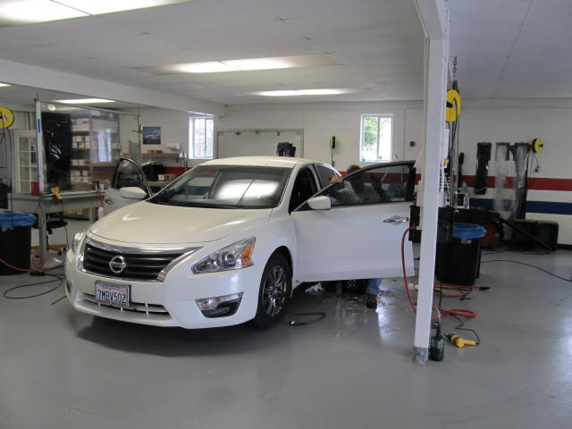 2015 Nissan Altima Tinted with 3M Color Stable, CS35 on two front doors, and CS5 on rear section.